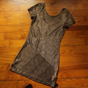 Metallic Free People Bodycon Dress